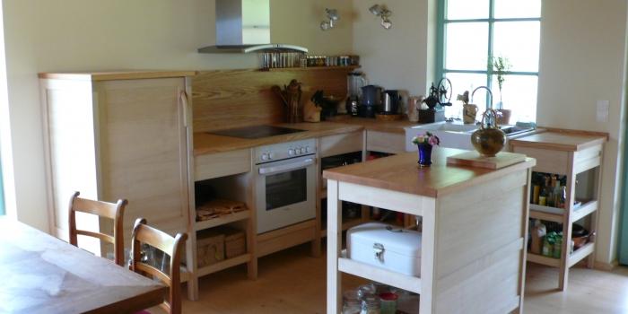 Küche in Hainbuche & Roteiche