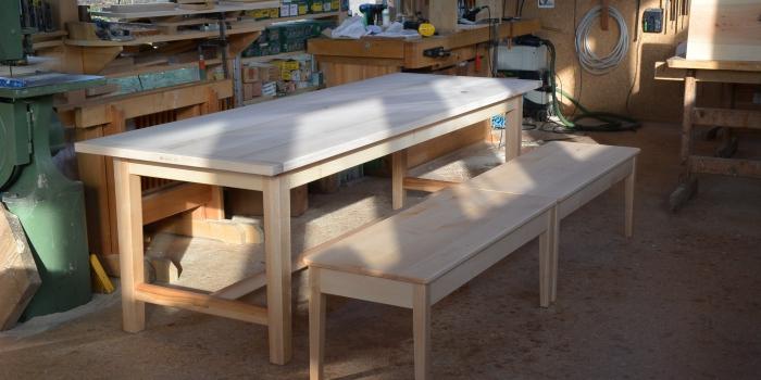 Spitzahorn für Tisch & Bänke