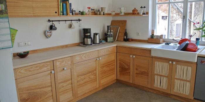 Küche in Esche und Ahorn